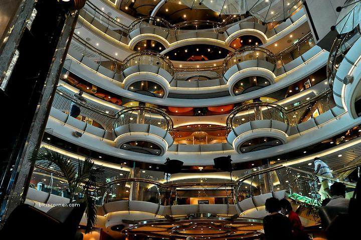 The Royal Interiors of the Royal Caribbean Cruise Ship
