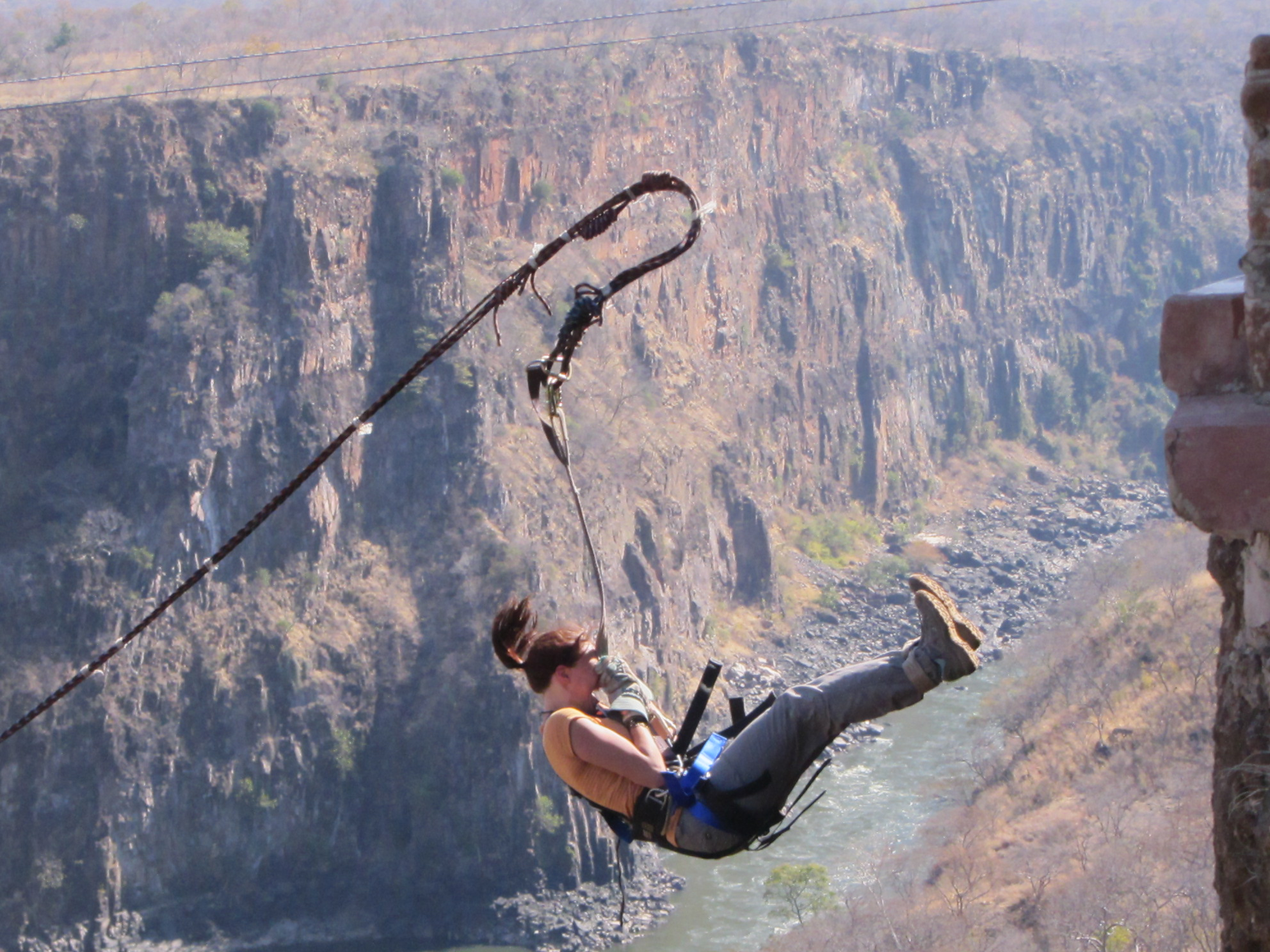 Not quite Bungee, Not quite Sky Dive, figure this one out for yourself. Photo Credit: The Zambesi Swing